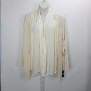 Style & Co Open Cardigan Plus Sz 3X Cream